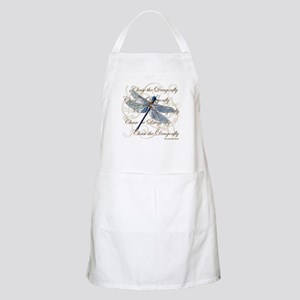 Blue Dragonfly Collage Apron