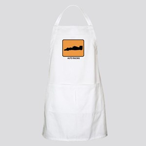 Auto Racing (orange) BBQ Apron