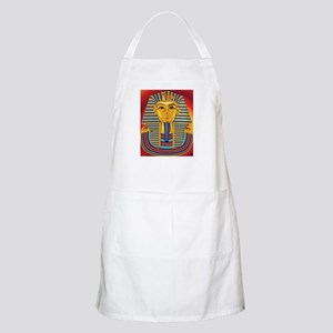 Tut Mask on Red Apron