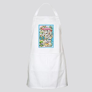 Wisconsin Map Greetings Apron