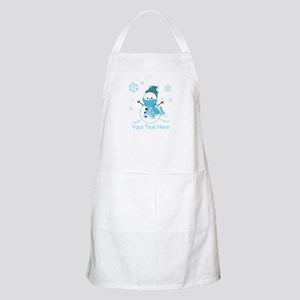 Cute Personalized Snowman Apron