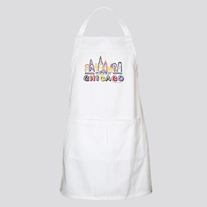 Cute Chicago Skyline Apron
