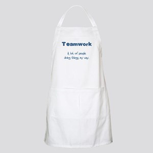 Teamwork - Blue BBQ Apron