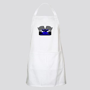 ROYAL BLUE RACE CAR BBQ Apron