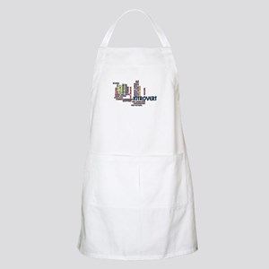Introvert Strengths Word Cloud 2 Apron
