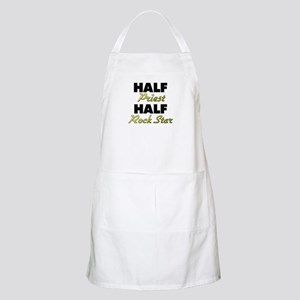 Half Priest Half Rock Star Apron