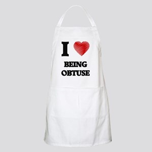 being obtuse Apron