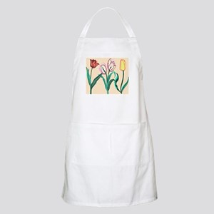Tulip Bordering Pattern lt pink Light Apron