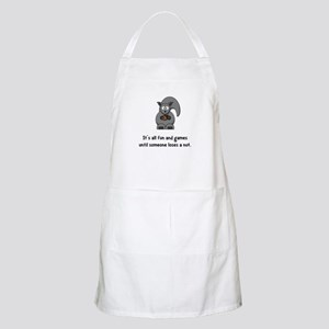 Squirrel Nut Black Apron