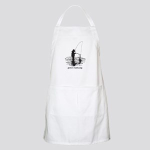 Personalized Gone Fishing Apron