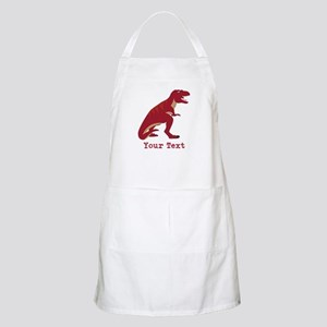 Red T-Rex Dinosaur with Custom text Apron