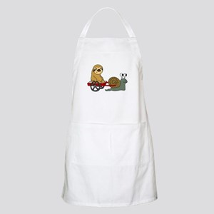 Snail Pulling Wagon with Sloth Apron