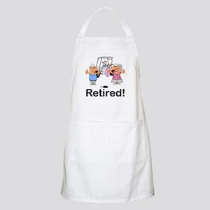 Funny Retirement Golf Couple Cartoon R Light Apron