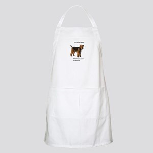 Guilty Airedale Shows No Remorse Apron