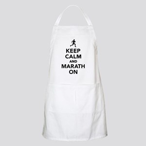 Keep calm and Marathon Apron