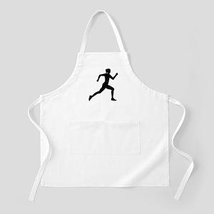 Running woman girl Apron