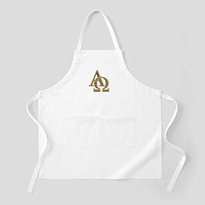 """3-D"" Golden Alpha and Omega Symbol Apron"
