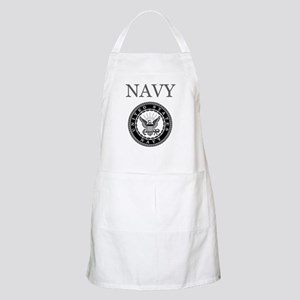 Grey Navy Emblem BBQ Apron