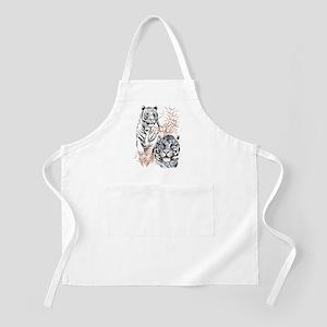 White Tigers Shirts Apron