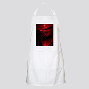 bondage black and red Master Apron