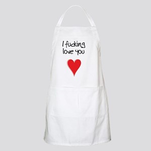 I Fucking Love You - Heart and Typography Apron