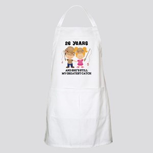 26th Anniversary Hes Greatest Catch Apron