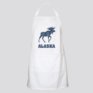 Retro Alaska Moose BBQ Apron