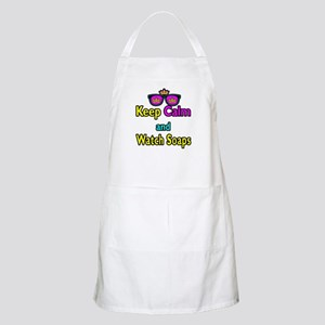 Crown Sunglasses Keep Calm And Watch Soaps Apron