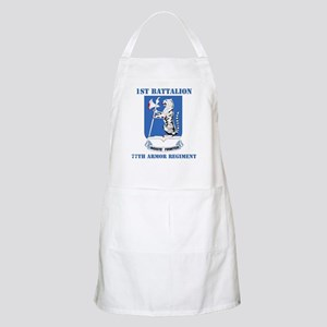 DUI - 1st Bn - 77th Armor Regt with Text Apron