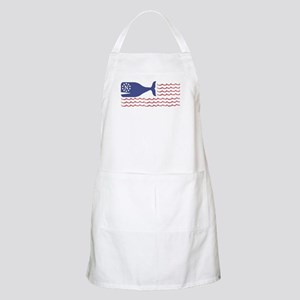 Whale Nantucket Flag Light Apron