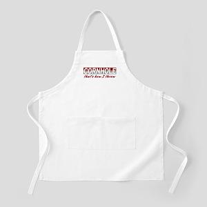 Cornhole, that's how I throw BBQ Apron