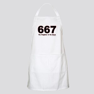 667 Neighbor of the Beast BBQ Apron
