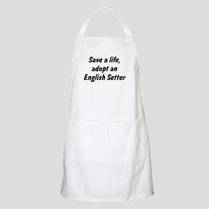 Adopt English Setter BBQ Apron