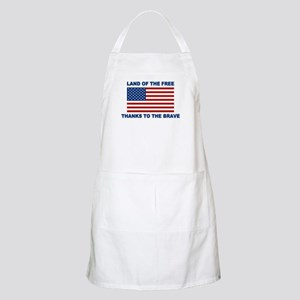 Land Of The Free Thanks To The Brave Apron