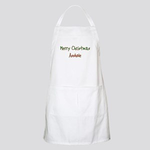 Merry Christmas Asshole BBQ Apron