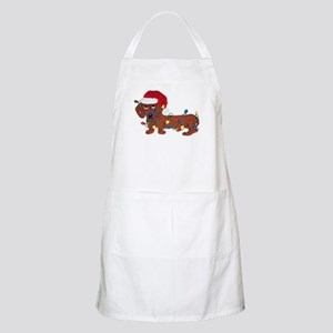 Dachshund (Red) Tangled In Christmas Lights Apron