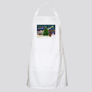 Xmas Magic & Airedale (#1) Apron