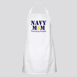 Navy Mom Proud Of Daughter Apron