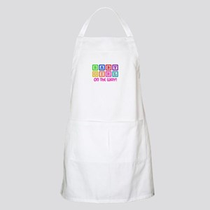BABY GIRL ON THE WAY Apron