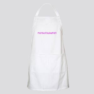 Physiotherapist Pink Flower Design Light Apron