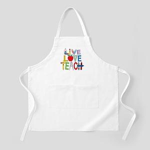 Live Love Teach Apron