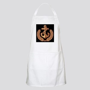Black and Orange Anchor Apron