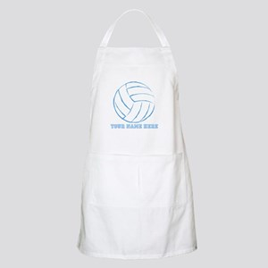 Custom Blue Volleyball Apron