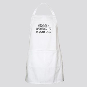 Recently Upgraded Funny 70th Birthday Apron