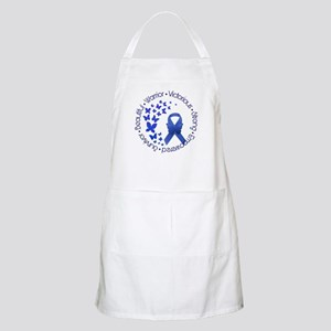 Blue Awareness Ribbon Apron