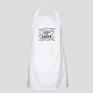 I March for Love Light Apron