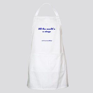 World's a Stage BBQ Apron