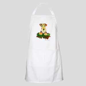 Airedale Holiday BBQ Apron