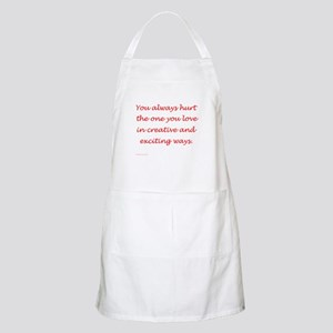 Hurt the one you love BBQ Apron