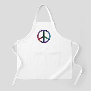 Multicolor Peace Sign BBQ Apron